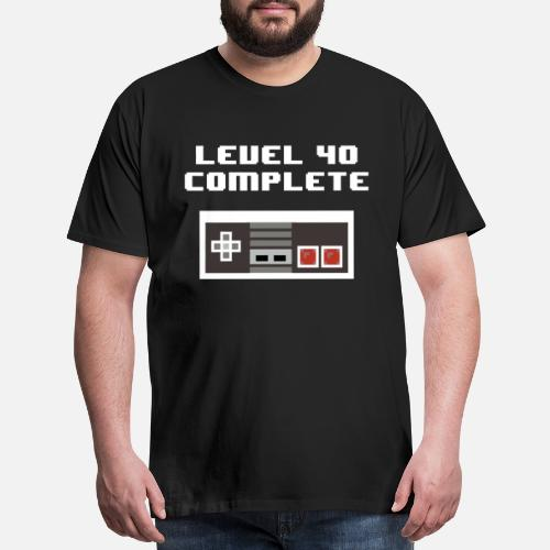Mens Premium T Shirtlevel 40 Complete Retro 40th Birthday Shirts