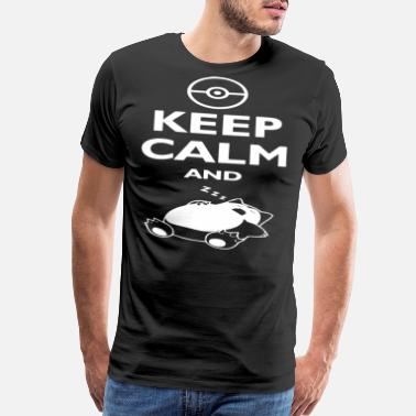 Poke Poke mon Keep Calm And Sleep Tee Men's Snor lax - Men's Premium T-Shirt