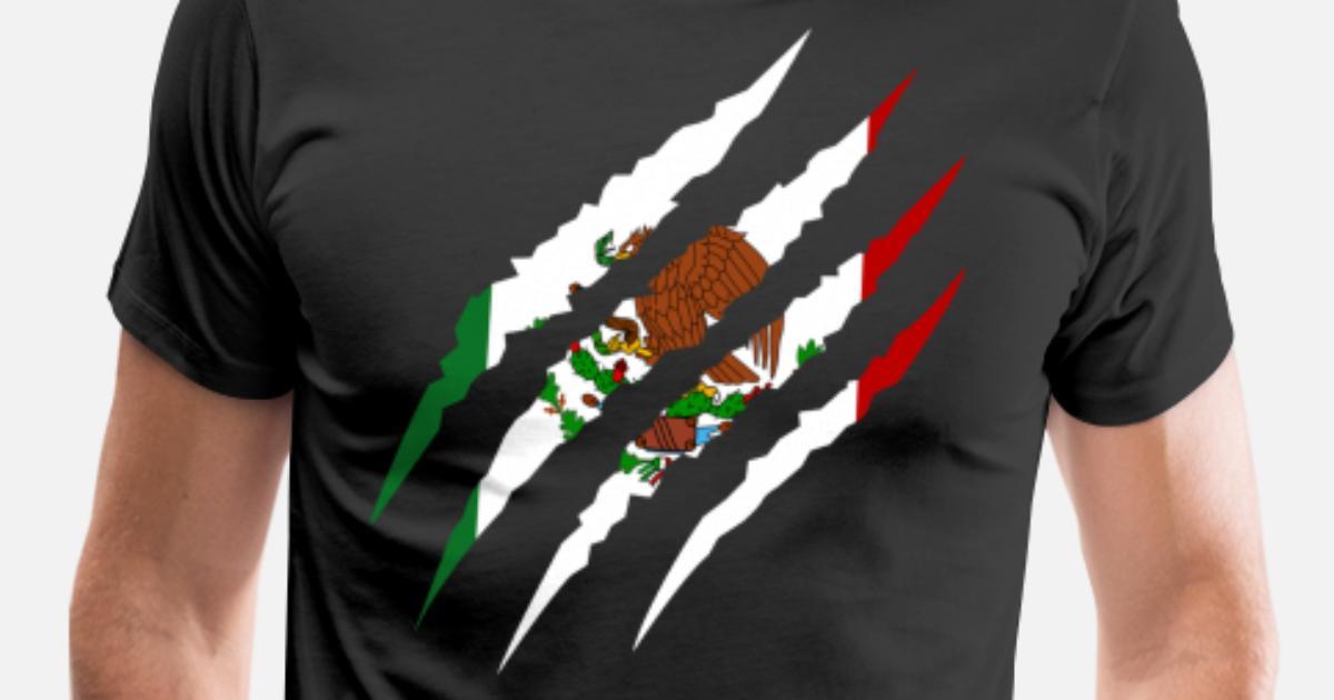 Mexico - Soccer Fan Mexican Flag 2018 Men s Premium T-Shirt ... 59cf396c8