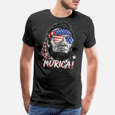 Murica Merica Abe Lincoln T shirt 4th of July Men Boys Kids Murica - Men's Premium T-Shirt