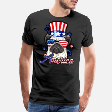 4th Of July 4th of july pug - Men's Premium T-Shirt