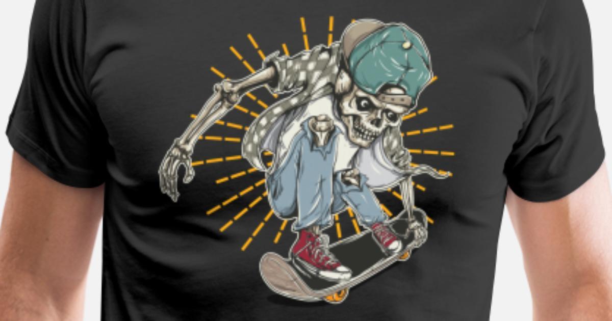 73804e380096 Skull And Bones Vintage Skate Skateboard T-Shirt Men's Premium T-Shirt |  Spreadshirt