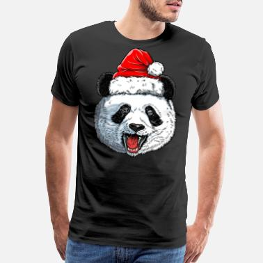 Giant Panda Panda Santa T shirt Christmas Kids Boys Girls - Men's Premium T-Shirt