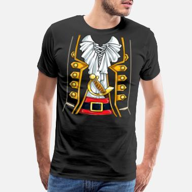 Graphic Pirates Pirate Buccaneer Costume T shirt Funny Halloween - Men's Premium T-Shirt