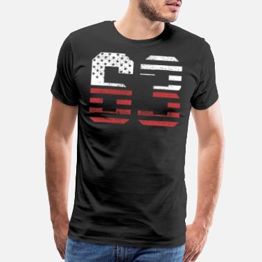 63 Birthday 63 USA flag birthday - Men's Premium T-Shirt