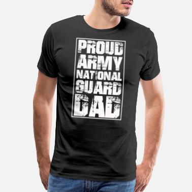 Army National Guard Military Dad - Men's Premium T-Shirt