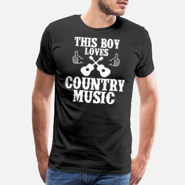Line Dance Country This Boy Loves Country Music Western US Ca - Men's Premium T-Shirt