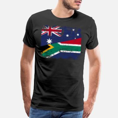 South AUSTRALIA SOUTH AFRICA FLAG - Half South African - Men's Premium T-Shirt