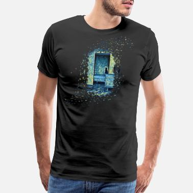 Nasa Starry Night Cats of Expressionism - Men's Premium T-Shirt