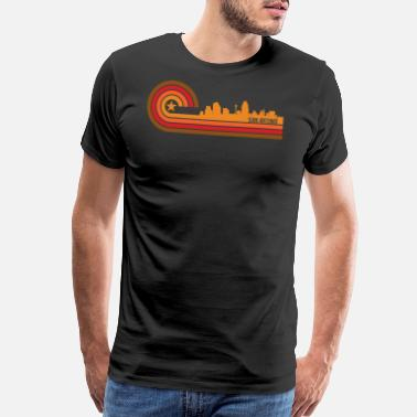 Antonio Retro Style San Antonio Texas Skyline - Men's Premium T-Shirt
