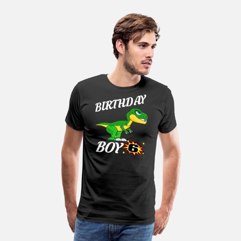 6 Years Old Birthday Design T Rex GifDesign Mens Premium Shirt