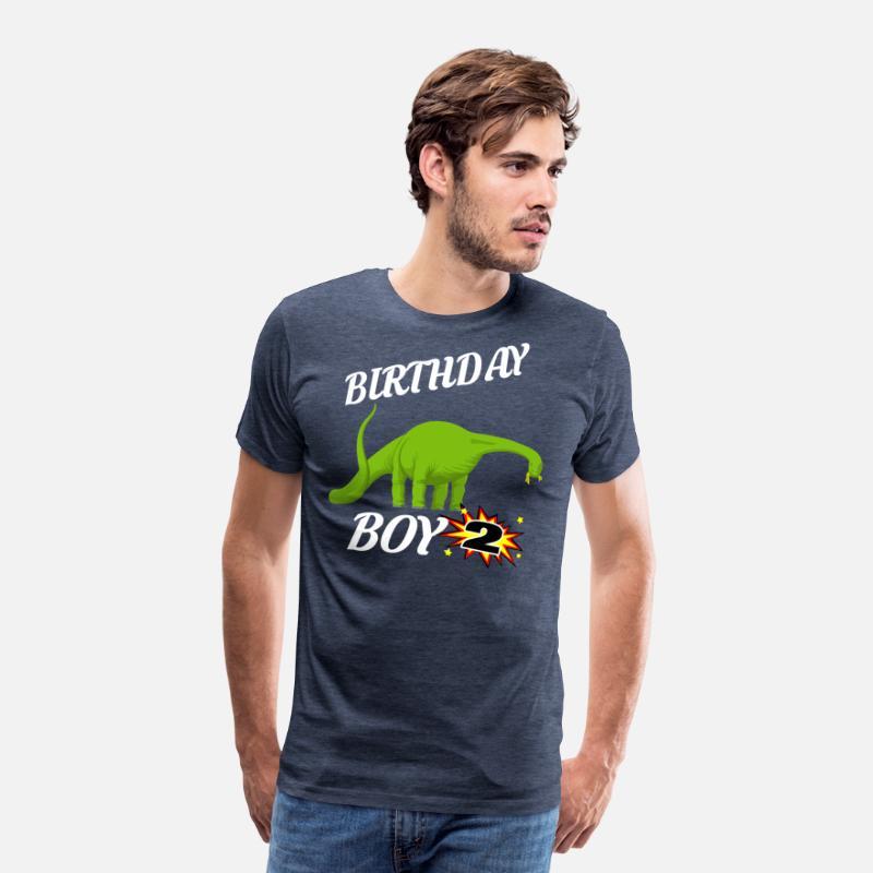 2 Years Old Birthday ShirtBrontasaurus GifDesign Mens Premium T Shirt