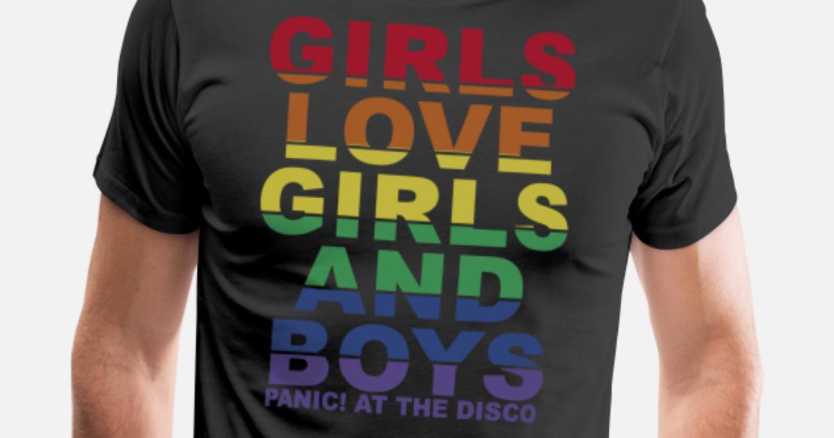 43f3ab9d7 Girls love girls and boys panic at the disco Men's Premium T-Shirt |  Spreadshirt