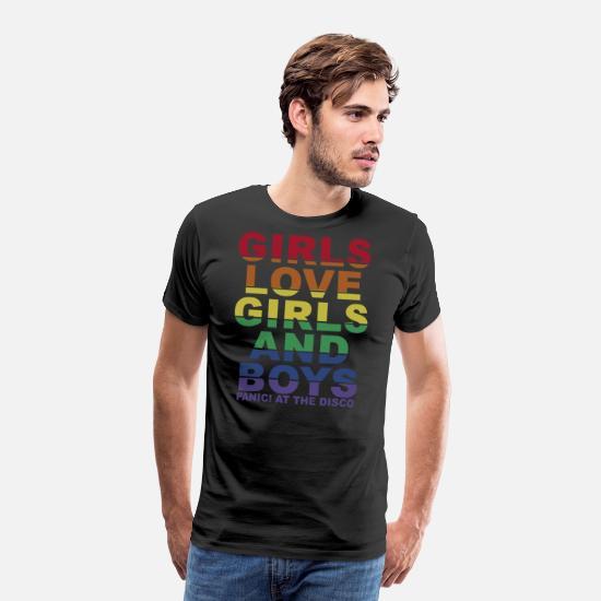 c5920fe2d Girls love girls and boys panic at the disco Men's Premium T-Shirt ...