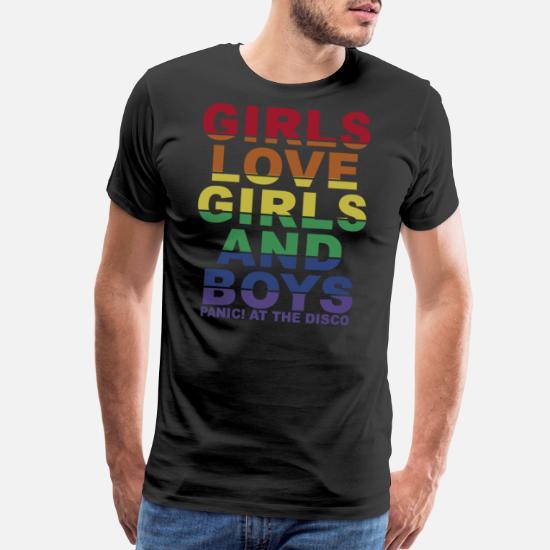 7bc85c3e Girls love girls and boys panic at the disco Men's Premium T-Shirt ...