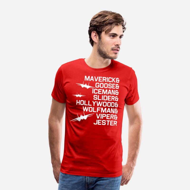 309845a58 Maverick goose iceman sliger hollywood wolfman vip Men's Premium T-Shirt    Spreadshirt