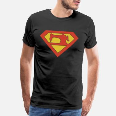 Father And Son Superman QUILTING SUPERMAN son t shirts - Men's Premium T-Shirt