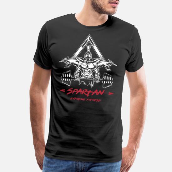 0258bf9f Slogans T-Shirts - Spartan Training Bodybuilding Gym Motivation Mma W - Men's  Premium T