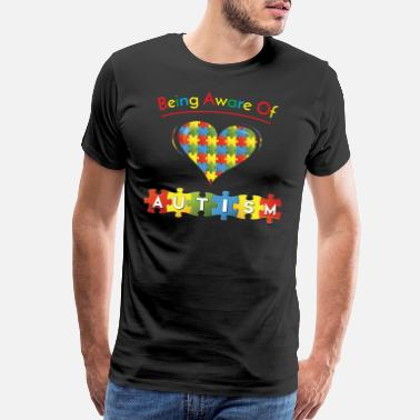 Aware Being Aware of Autism - Men's Premium T-Shirt