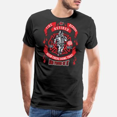 Holy Cross Firefighter Maltese Cross First Responders Retired - Men's Premium T-Shirt