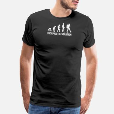 Evolutionary History Backpacker evolution - Men's Premium T-Shirt