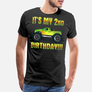 2 Year Old Birthday It's My 2nd Birthday Monster Truck - Men's Premium T-Shirt