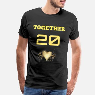Since TOGETHER SINCE (MALE) - Men's Premium T-Shirt