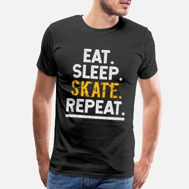 Backflip Eat Sleep Skate Repeat Skateboard Boarder Skater - Men's Premium T-Shirt