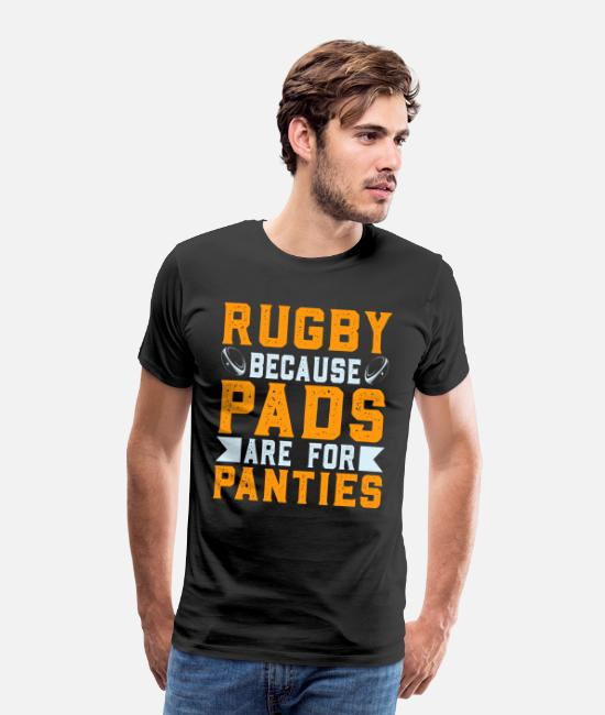 Game T-Shirts - Rugby Player Funny Saying - Men's Premium T-Shirt black