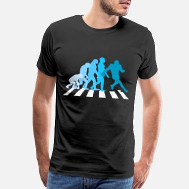 Being Human Design Football Evolution Rugby Coach Fan Darwin Fun Gift - Men's Premium T-Shirt