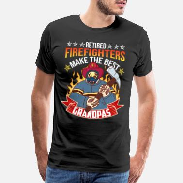 Firefighter Paramedic Retired Firefighter Grandpa Firefighting Fireman - Men's Premium T-Shirt