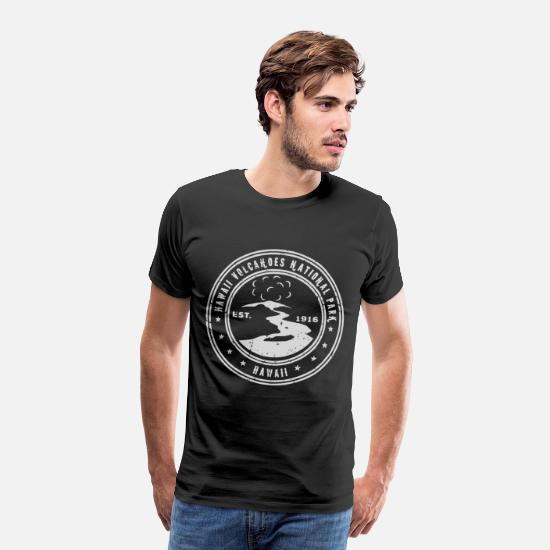 Hawaii T-Shirts - Hawaii Volcanoes National Park Dark Heather Hawaii - Men's Premium T-Shirt black