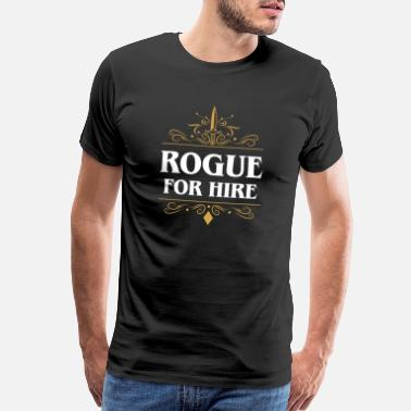 Rogue Rogue for Hire Tabletop RPG Classes - Men's Premium T-Shirt