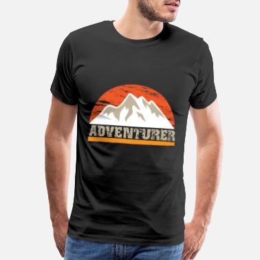 A-ha Hiking Wanderlust Trekking Tour Hiker Mountain - Men's Premium T-Shirt
