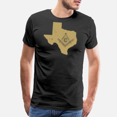 Freemason Square And Compass Texas Freemason Shirt With Freemason Square & Compass - Men's Premium T-Shirt
