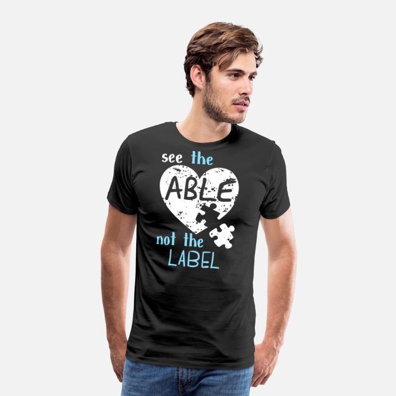 Autism T-Shirts - See the Able Not The Label Autism - Men's Premium T-Shirt black