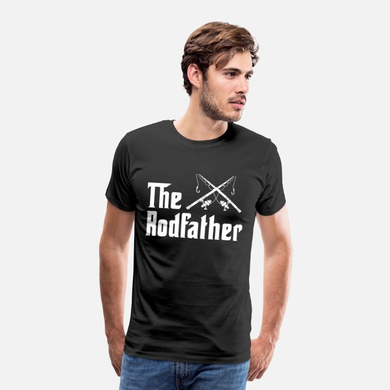 Fishing Couple T-shirts T-Shirts - The rodfather Fishing - Men's Premium T-Shirt black