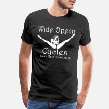 Classic Motorcycle Wide open cycles daytona beach fl skull Motorcycle - Men's Premium T-Shirt