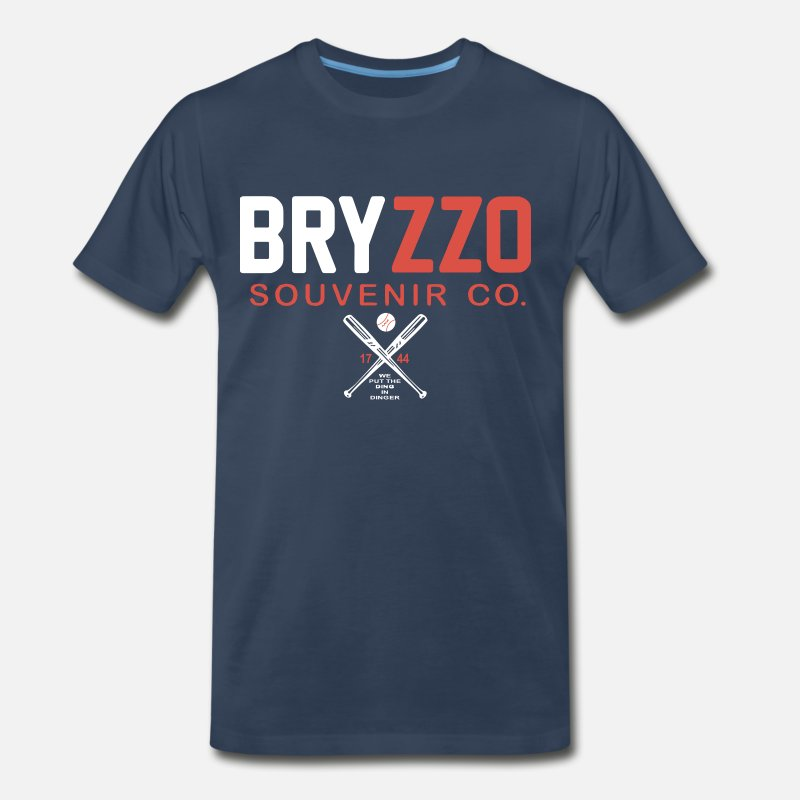 BRYZZO Souvenir Company Bryant Rizzo Chicago Cubs Men s Premium T-Shirt  bf81a212f124e