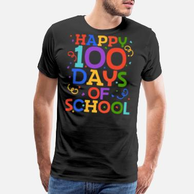 100 Days Happy 100 days of school - Men's Premium T-Shirt