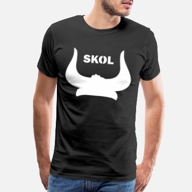 Skol Vikings The Nordic Skol Helmet viking - Men's Premium T-Shirt