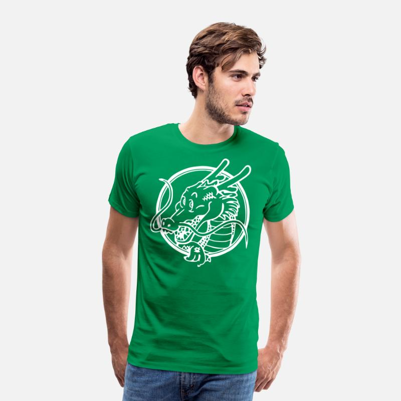 Dbz Dragon Ball Z Logo Anime Vegeta T Shirts Men S Premium T Shirt Kelly Green