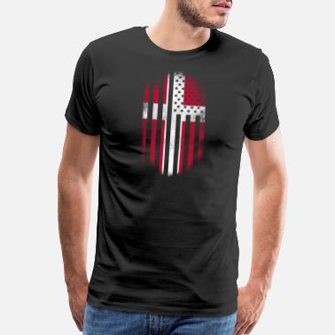 Denmark Danish American Flag Denmark and USA Design - Men's Premium T-Shirt