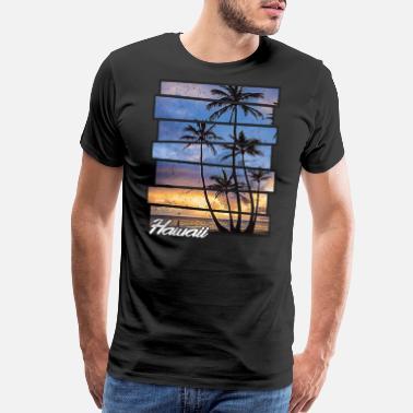 Bomugtee Mens Beach Tank Top Cotton Palm Tree Sunset Graphic Tee Shirts Black