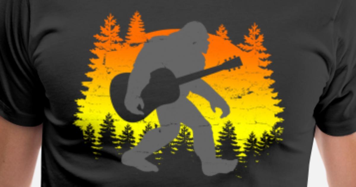 cd47dba0 Bigfoot Sasquatch Guitar Funny Gift Men's Premium T-Shirt | Spreadshirt