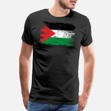 Palestine Flag Palestine Shirt Gift Country Flag Patriotic Travel Asia Light - Men's Premium T-Shirt