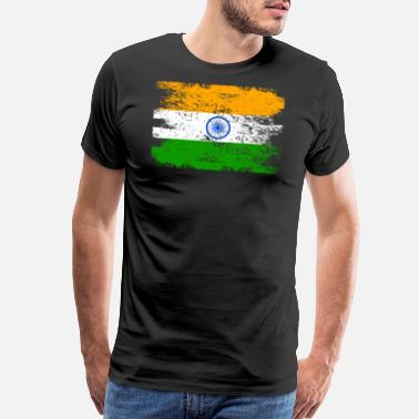 Flag India Shirt Gift Country Flag Patriotic Travel Asia Light - Men's Premium T-Shirt