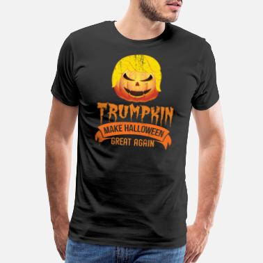 Donald Trumpkin Halloween Donald Trumpkin Make Halloween Great Again - Men's Premium T-Shirt