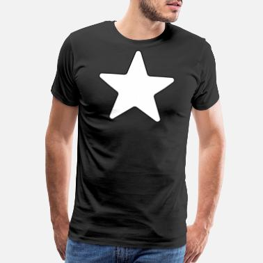 White Star Giant White Star Stars Big Large Star - Men's Premium T-Shirt
