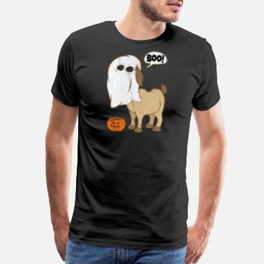 Devil Face Funny Halloween Goat Ghost Costume Cute Boo Goat - Men's Premium T-Shirt